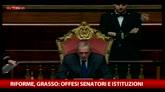 Gesto sessista Barani, Grasso: offesi senatori e istituzioni