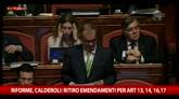 Riforma Senato, Calderoli ritira gli emendamenti