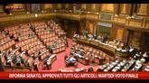 Riforma Senato, approvati articoli. Martedì voto finale