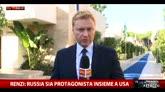 Renzi: Russia sia protagonista insieme a Usa