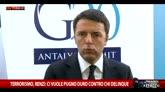 Terrorismo, Renzi: ci vuole pugno duro contro chi delinque