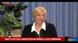 Pinotti: condivido rischio ripresa a causa del terrorismo