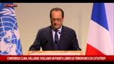 Hollande: un pianeta libero da terrorismo e catastrofi