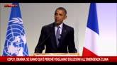 Cop21, Obama: siamo qui perché vogliamo soluzioni