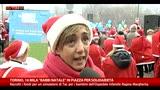 Torino, il più grande raduno d'Italia di Babbi Natale