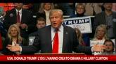 Isis, Trump: l'hanno creato la Clinton e Obama