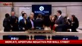 Borse, apertura negativa anche per Wall Street