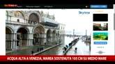Acqua alta a Venezia: marea sostenuta, 105 cm su medio mare