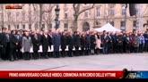Parigi, anniversario Charlie Hebdo: commemorazione vittime