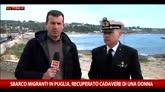 Sbarco migranti in Puglia, recuperato corpo di una donna