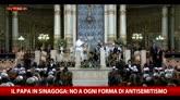 Il Papa in sinagoga: no ad ogni forma di antisemitismo