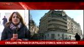 Roma, crollano 3 piani di un palazzo. 3 feriti