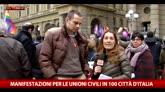 Firenze, manifersazione in favore delle unioni civili