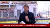 Crollo palazzo Roma, stabile sotto sequestro