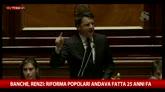 Renzi: orgogliosi del decreto banche, atteso da 25 anni