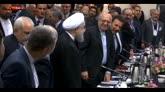 Parigi, incontro Rohani Hollande