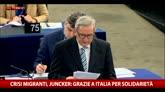 """Crisi migranti, Juncker: """"Grazie a Italia per solidarietà"""""""