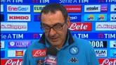 """Napoli, Sarri: """"Gara complicata da due errori arbitrali"""""""