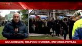 12/02/2016 - Regeni, palestra gremita per i funerali