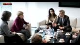 12/02/2016 - Berlino, George e Amal Clooney ricevuti da Angela Merkel