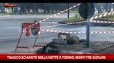 Tragico schianto nella notte a Torino, morti 3 giovani
