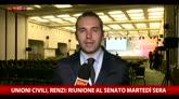 Unioni civili, Renzi: riunione al Senato martedì sera