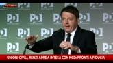 Unioni Civili, Renzi apre a intesa con Ncd: pronto a fiducia