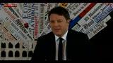 """Renzi: """"L'Europa com'è adesso non funziona"""""""