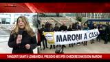 Lombardia, tangenti sanità, presidio M5S: Maroni si dimetta