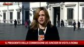 Il presidente della Commissione Ue Juncker in visita a Roma