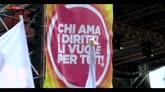 Unioni civili, in piazza a Roma le famiglie arcobaleno