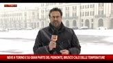 Maltempo, neve a Torino e su gran parte del Piemonte