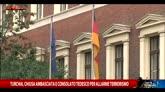 Allerta terrorismo, chiusa ambasciata tedesca ad Ankara