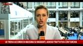 Ue, accordo di massima sui migranti, trattativa con Turchia