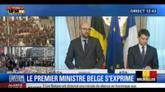 Il premier belga: il destino dell'Europa è la pace