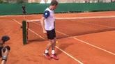13/04/2016 - Volandri sfida Nadal, è gara di palleggi a Montecarlo