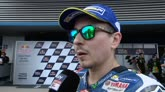 "23/04/2016 - Lorenzo applaude Rossi: ""Gran giro"""