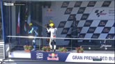 GP Spagna, Bulega scappa dal podio