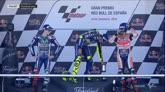 Rossi-Lorenzo-Marquez, è gelo sul podio