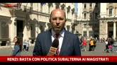25/04/2016 - Renzi: allungare prescrizione ma tempi certi per processi