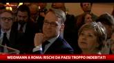 27/04/2016 - Weidmann a Roma: rischi da paesi troppo indebitati