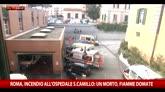 01/05/2016 - Incendio al San Camillo di Roma, un morto
