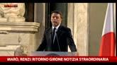 02/05/2016 - Marò, Renzi: ritorno Girone notizia straordinaria