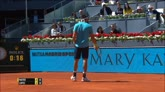 02/05/2016 - Atp Madrid: pipistrello in campo, Mayer lo accompagna fuori