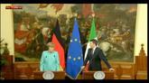 05/05/2016 - Migranti, Renzi: forte convergenza tra Germania e Italia