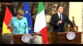 05/05/2016 - Roma, vertice Renzi-Merkel sui migranti