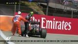 15/05/2016 - Hulkenberg a muro: spegne il fuoco sulla sua Force India