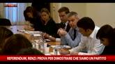 18/05/2016 - Referendum, Renzi: prova per dimostrare che siamo un partito
