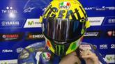 Mugiallo, svelato il nuovo casco di Rossi