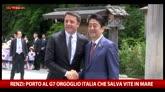 """26/05/2016 - G7, Renzi: """"Migranti diventi tema centrale del summit"""""""